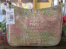 New Brahmin Croco Leather Atlas Melbourne Noelle Shoulder Tote Purse $285
