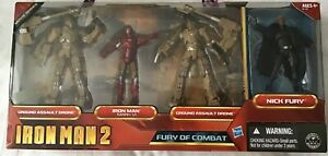 Iron Man 2, FURY Of COMBAT , 2 GROUND ASSAULT DRONES, and Exclusive  NICK FURY
