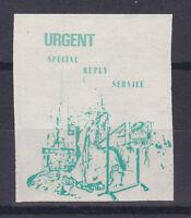 1971 STRIKE MAIL KING ARTHURS KNIGHTS POSTAL SERVICE URGENT STAMP MNH