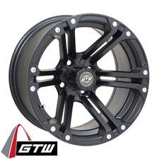 (1) Golf Cart Gtw Specter 14 inch Matte Black Wheel With 3:4 Offset