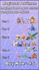 Regional Trades - Pokemon GO - Any Regional of Choice!