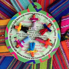 New Mini Guatemalan Worry Dolls in a Pouch Handmade in Guatemala