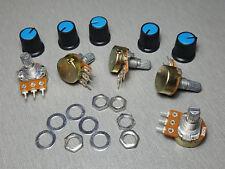 250K Linear Potentiometer Pot B250K 15mm Shaft + Knobs Pack of 5