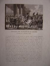 Gravure Entrée de NAPOLEON Le Grand à BERLIN 27 octobre 1806  Napoléon Bonaparte