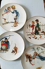 New Listing4 Norman Rockwell Collector Plates Limited in Edition Each Plate Titled