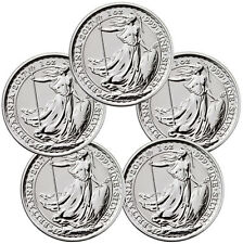 Lot of 5 -2017 G Britain 1 oz Silver Britannia 20th Anniv Trident Privy SKU46318