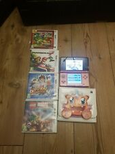 Nintendo 3DS in Coral pink with 4 3ds games, 2gb Mem and pokemon case Fast PP