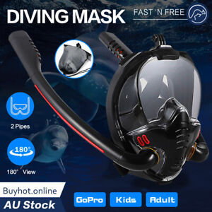 Snorkel Goggles Full Face Diving Mask Snorkel Swim 180° View Anti Fog Snorkeling