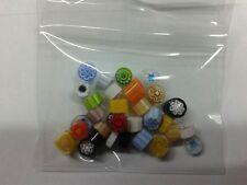 10 grammi murrine in foto murano glass millefiori multicolor tras misura 6-7 mm