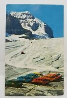 Vintage canadian ice taxi postcard 1960's Mountains