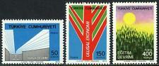 Turkey 1989-1991, MI 2338-2340, MNH.Works & reforms of Kemal Ataturk,1974