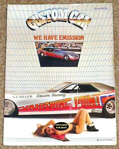 CUSTOM CAR Magazine Feb 1982 - VANISHING POINT - FORD POPS - C3 CORVETTE -CAMARO