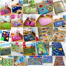 Fun Colourful Kids Bedroom Rugs Interactive Budget Nursery Creche Playroom Mats