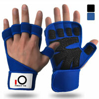 Weight Lifting Gloves For Workout Gym Cross Training Pull Ups Fitsness Blue US