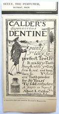 Antique magazine advert Calder's Dentine Tooth Powder 1899