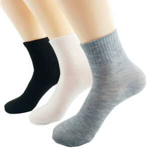 1/5/10 Pairs Men Ankle Casual Sports Short  Socks Soft Cotton Solid Winter Socks