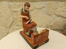 Statuette publicitaire cordonnier plâtre chaussures bally