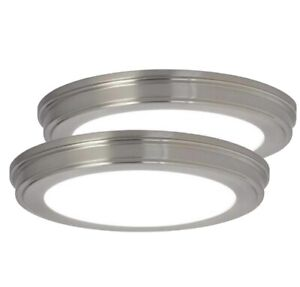 "2 - 13"" LED Ceiling Light Flush Mount Fixtures- Commercial Electric"
