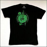 Majestic x Boston Celtics NBA T-Shirt | Medium | Black/Green Glitter | Rare