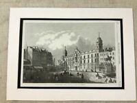 Antique Print Charing Cross London Canaletto Painting Architectural Victorian
