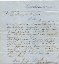 1850 Inventor James A. Woodbury Autograph Letter Signed Regarding a Patent