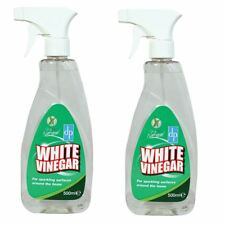 2 x DP White Vinegar 500ml Cleaning Spray Limescale Glass Cleaner Stain Remover