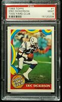 1989 Topps 1000 Yard Club #1 Eric Dickerson HOF Indianapolis Colts PSA 9 Mint