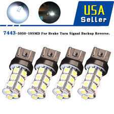 4x White 7443 18-SMD LED Light Bulbs Turn Signal Backup Reverse T20 7440 7441