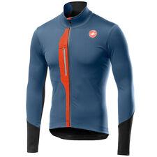 Castelli Trasparente V Polartec YKK Vislon cremallera completa para hombres para Ciclismo Jersey, Luz/