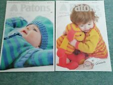2 X Paton's Baby Knitting Pattern Books