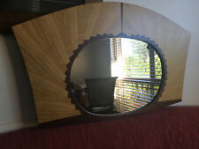 Art Deco Wall Mirror Contemporary Designer Marquetry Wood Veneer Australian Made