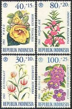 Indonesia 1965 MIRTO/GIGLIO/Balsamo/Ibisco/Fiori/Piante/NATURA SET 4v (n41120)