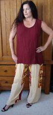 wine top pants rayon moroccan set M L XL 1X zg255