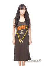 AC/DC Heavy Rock Angus Young Long Dress T-Shirt Women Tank Top Tunic Size S M