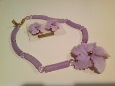 Italian Beads Flower Necklace and Earrings Set