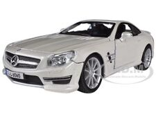 MERCEDES SL 65 AMG COUPE WHITE 1/24 DIECAST MODEL CAR BY BBURAGO 21066