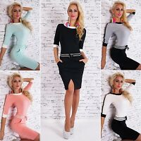 Women's Relaxed Drawstring Striped Mini Dress - S/M, L/XL