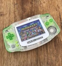Nintendo Gameboy Advance GBA Clear Green Handheld Gaming Console BACKLIT IPS V2
