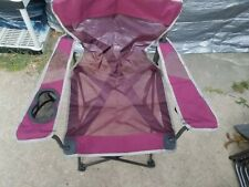 Ozark Trail Oversize Mesh Folding Camping Chair Cup Holders Heavy Duty W/ BAG