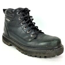 Skechers  Men's Mariners Pilot Boots Size 10 Black Leather Lace Up STYLE #: 4473