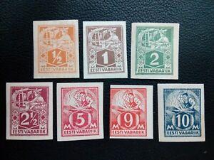 Estonia - 1922 Weaver & Blacksmith (Mi 32-35; 37-39) set cut, MNH