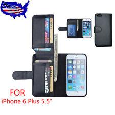 "Men Card Holder Flip Wallet Leather Case Cover For Apple iPhone 6 Plus 5.5""BlacK"