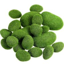 20 Pieces 2 Sizes Artificial Moss Rocks Decorative Faux Green Moss Covered D6N7