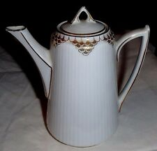 1904 Bp Bauer & Pfeiffer Wurttemberg German Porcelain White Water Tea Coffee Pot