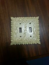 Gold  tone Light Switch Cover Plate Gothic Victorian Mid Century Edmar Vtg