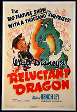 THE RELUCTANT DRAGON ROBERT BENCHLEY RARE DISNEY 1941 1-SHEET