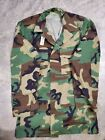 MILITARY ISSUE WOODLAND BDU CAMOUFLAGE HOT WEATHER BLOUSE Small-X-Long