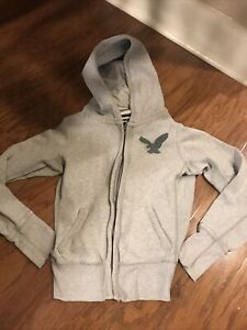 AMERICAN EAGLE OUTFITTERS ~ Juniors Womens Small Hooded Sweatshirt Size XS GREY