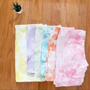 NEW Bright Tie dye biker shorts tie dyed bohemian soft spring fashion sexy
