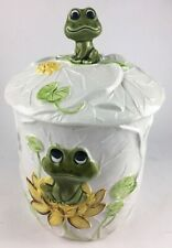 Vintage Mid Century Cookie Jar Frogs Ceramic Neil The Frog
